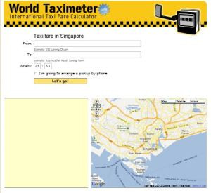 taxi fare singapore