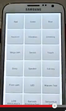 Note2 LCD test