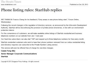 Starhub Phone listing rules
