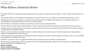 What defines a financial adviser