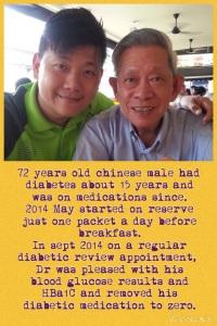 diabetes 72yrs